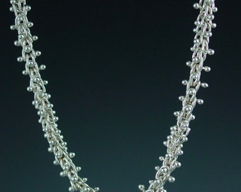 Fine Siver Caterpillar Necklace