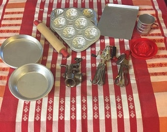 Memorial Day Vintage Toy Cooking and Baking Lot