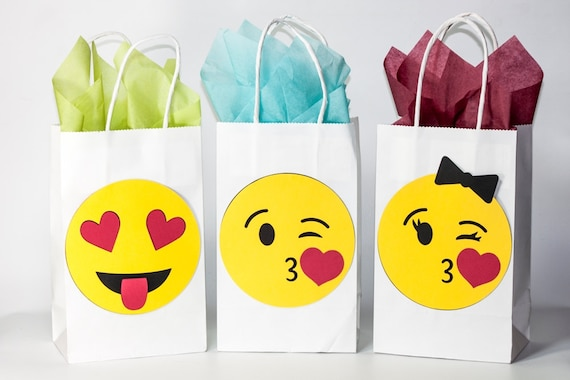 Emoji Party Emoji Birthday Emoji Party Bags Emoji Favors