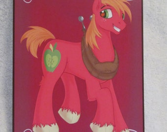 Big Mac - My Little Pony - Brony Character - Just over A5 size -
