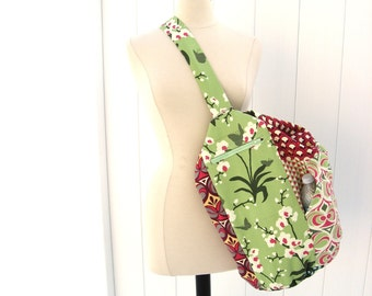 Gym Bag Upright Duffle for hanging in narrow gym lockers - Made to Order Patchwork