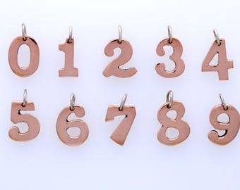 Sterling Silver & Copper Alphabet Letter Charms, Choice of Letter