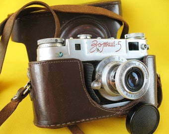 CAMERA ZORKI 5 with Lens Industar- 50 1:3,5 Russian Leica Copy Soviet USSR