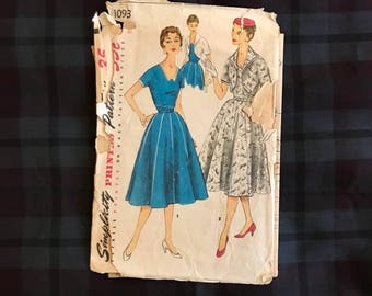 1950s Simplicity 1093 bust 30 dress and jacket