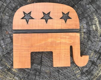 Wooden republican elephant