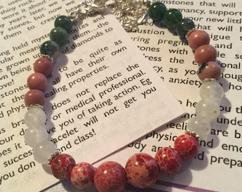 Pregnancy Protection Gemstone Bracelet, New Mom, First Mother's Day, Mother's Day gift for  Mom to Be