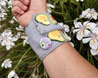 Avocado flair cuff/avocado bracelet/avocado accessory