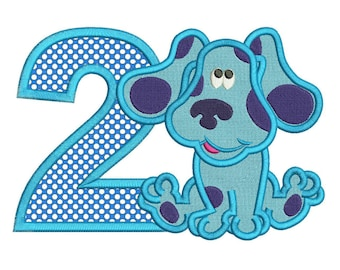Blues Clues 2nd Birthday Applique Design 3 sizes Instant Download