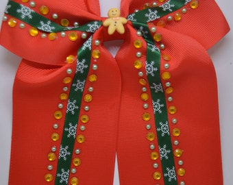 Anne's Christmas Gingerbread Men - Large Hair Clip