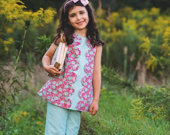 PDF Sewing Pattern: Janey Jumper A-Line Dress - Size 6 Month through 10 Years