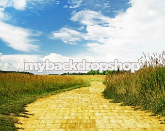 8ft x 8ft Yellow Brick Road Backdrop - Wizard of Oz Photography Backdrop - Vinyl - Item 1636