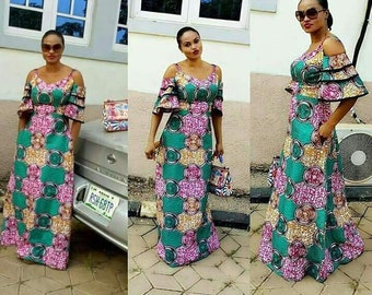 Stylishly made ankara dess. Made to fit-