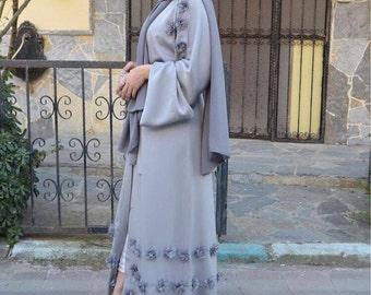 PREORDER - LILAC FLORAL Embellished Abaya