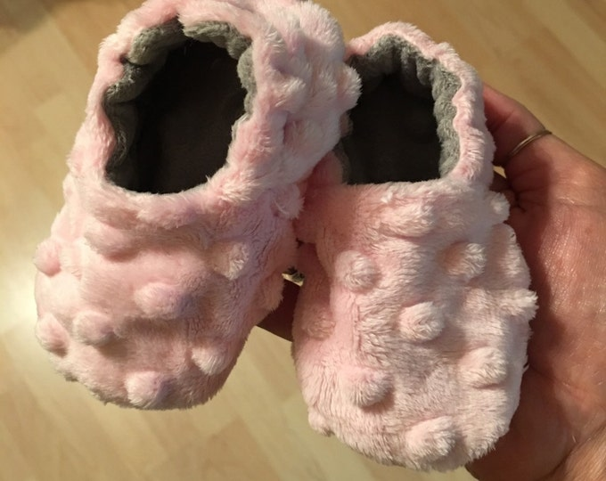 Baby and Toddler items, Baby shoes, crib booties, Minky booties
