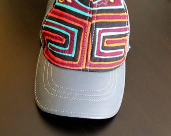 Leather Hat / Leather Mola Hat / Leather Cap / Leather Mola Cap / Christmas Gift / Gifts / Baseball Hat