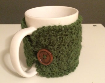 Crochet mug cozy, tea gift, coffee gift, office gift, crochet cup cozy, coffee cup sleeve, teachers gift, mug warmer