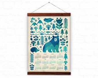 Wall calendar 2018 - In the forest - 2018 calendar - wild life calendar - mountains calendar - 2017 calendar print - home decor