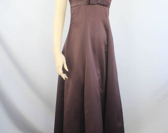 80s prom dress, vintage 1980s ball gown dress, ballgown, In-Xs evening dress, brown, 80s ballgown prom dress ball gown 1980s XS extra small