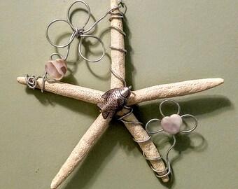 Starfish Wall Decor  All Occassion Gift  Beach Decor Coastal Decor Fish & Hearts Gender Neutral Design