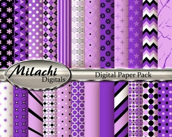 60% OFF SALE Blush Pink and Violet Digital Paper Pack, Scrapbook Papers, Commercial Use - Instant Download - M96
