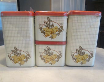 Vintage Cheinco Canister Set New