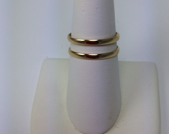 Gold vermeil double band ring