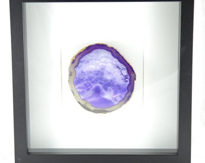 Purple Agate Wall Art--Agate Wall Art--Agate Slice Art--10X10 Frame