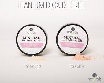 vegan 100% Titanium Dioxide Free Mineral Highlighter Powder - pearlescent & luminous