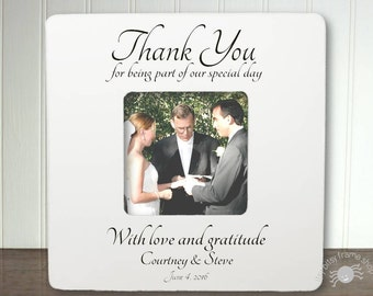 Personalized Wedding Officiant Frame Officiant Gift Thank You Gift Pastor Officiant Thank You For Being Part of Our Special Day IB1A1FS