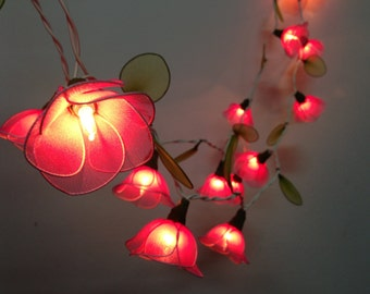 20 Bulbs Sweet Pink flower string lights Garland for party and decoration