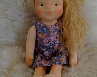 Waldorf doll, Blond Doll, Fabric Doll