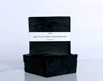 Activated Charcoal | All Natural Handmade Soap | Acne Soap | Purify | Vegan soap | Charcoal Soap | Eco-Friendly Soap | Cold Process Soap