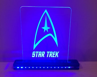 Star Trek Edge Lighted Laser Cut LED Acrylic Sign