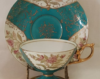 Gorgeous 1800's Antique Cup & Saucer Set