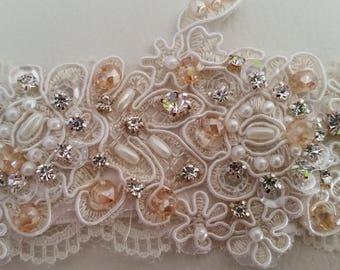Beaded Bridal Corsage, Bridal Corsage, Bridal Bracelet, Bracelet, Beaded Bracelet, Wedding Jewelry, Bridal Jewelry, Bridal Cuff, Cuff