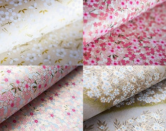 Floral Paper, Traditional Japanese Paper, Washi Paper, Origami Paper, Chiyogami, Yuzen, Cherry Blossom, Origami Sheets, Craft paper