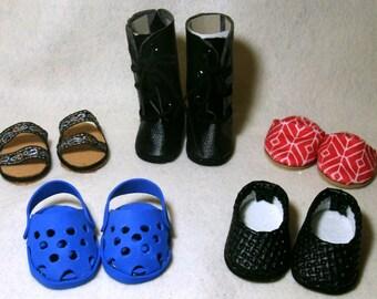 """Complete shoe set for 18"""" dolls"""