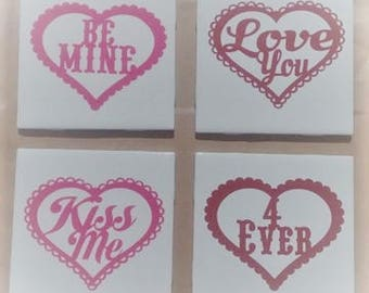 Conversation Heart Coasters/Decorative Tile