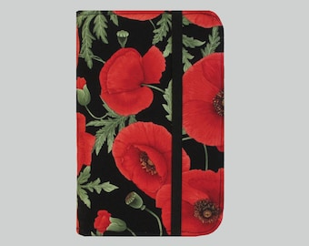 Kindle Cover Hardcover, Kindle Case, eReader, Kobo, Kindle Voyage, Kindle Fire HDX, Kindle Paperwhite, Nook GlowLight Red Poppies