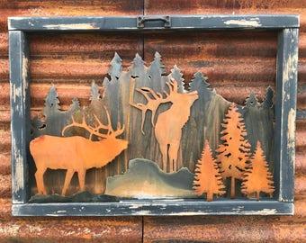 Good Rustic Wildlife Wood Sign, Mountain Decor, Elk Decor, Rustic Decor,  Farmhouse Decor