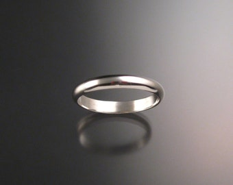 Sterling silver 3.25 mm Smooth band made to order in your Size