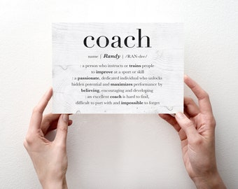 Personalized Basketball Coach Card, Custom Mentor Thank You Card, Hockey Coach Retirement Card, Gift For Coach, Baseball Coach, Soccer Coach