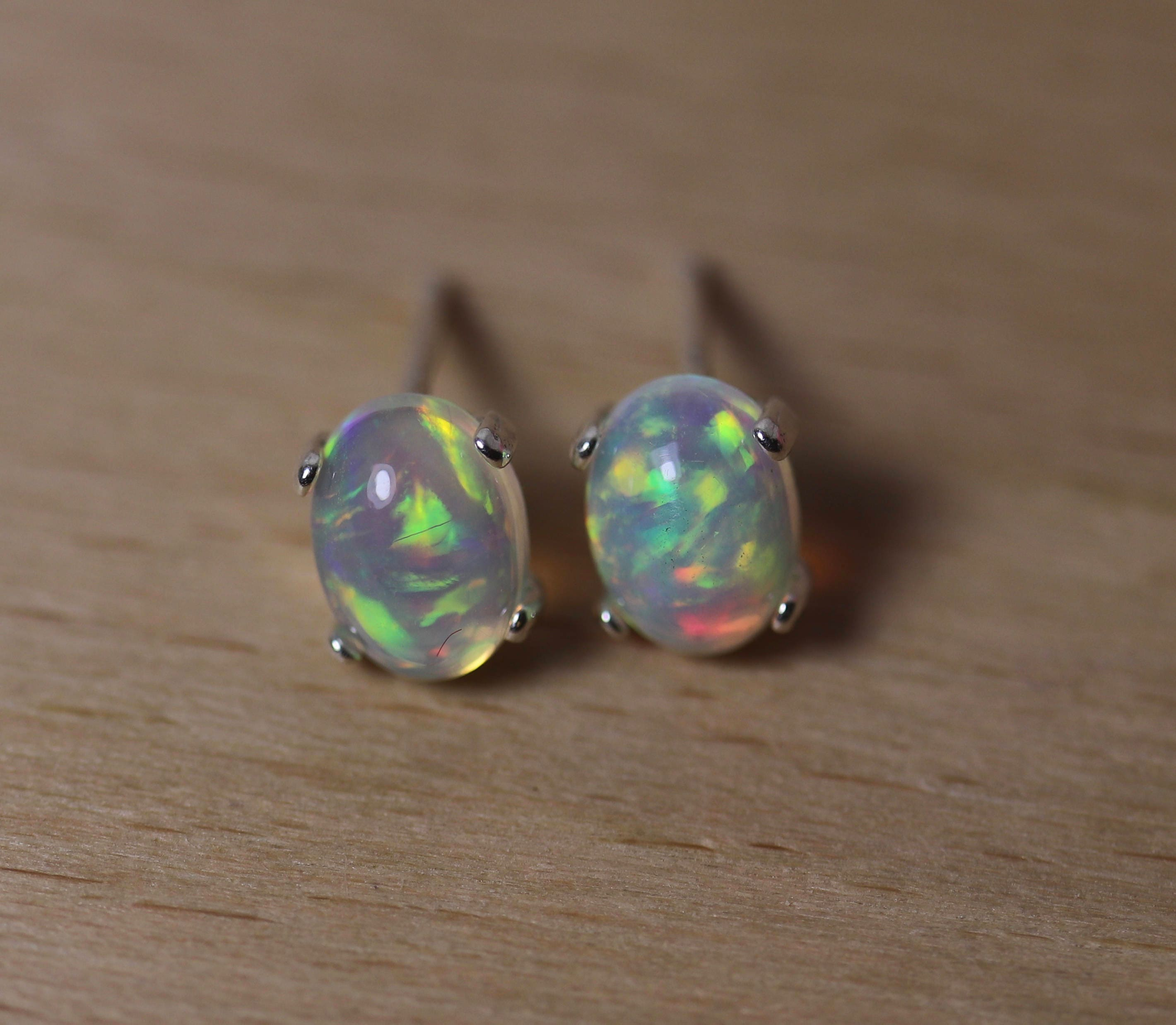 perfect made with pierced stunning hand product body these piercing genuine standard tourmaline ears in butterfly for identity opalz natural are back earrings and about opal size