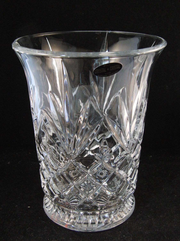 Genuine lead crystal vase by deplomb crystal usa description genuine lead crystal vase reviewsmspy
