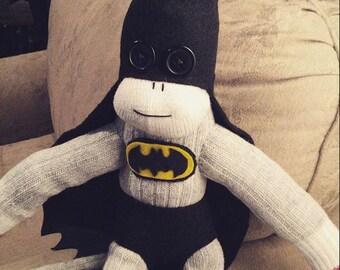 Batman Sock Monkey handmade
