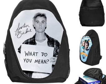 Justin Bieber What do you mean Autograph School Bag Backpack