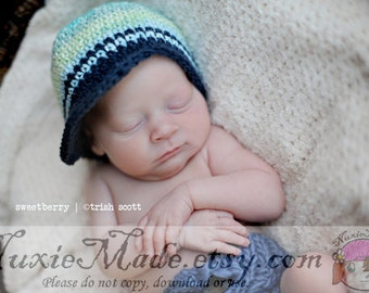 Crochet Newsboy Hat for Baby, 6-12 Months Stripes Beanie Hat, Baby Boy Crochet Hat, Newsboy Hat for Baby Boy, Stripes Crochet Hat for Baby