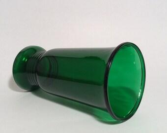 Green Glass Vase Vintage Napco Tall Flared Emerald Green Glass Vase Christmas Holiday Decor