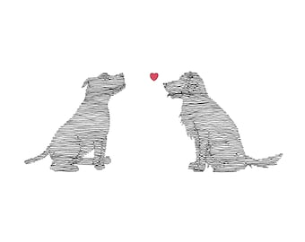 Dogs in Love Card