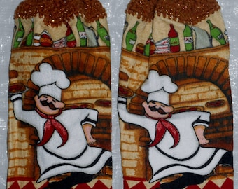 Set of Pizza Chef Towels